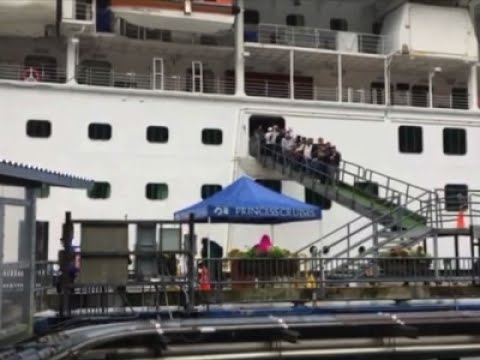 Raw: Passengers Off Cruise Ship After FBI Arrest