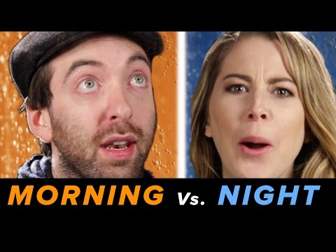 Morning Vs. Night Showers • Debatable