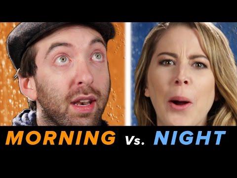 Morning Vs. Night Showers • Debatable