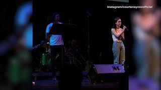 Courteney Cox daughter Coco sings alongside Gary Lightbody