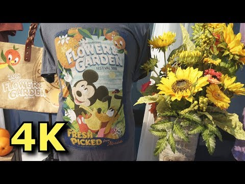 NEW Food and Merchandise for Epcot Flower & Garden Festival 2018 - 4K