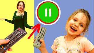 Челлендж пауза 24 часа  Мама поставила Алису на паузу на канале Лисенок Алисенок