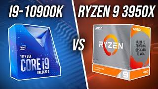 Intel i9-10900K vs AMD Ryzen 9 3950X CPU Comparison