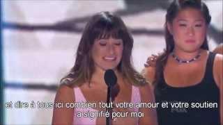 [VOSTFR] Discours du cast de Glee & Lea Michele aux TCA's 2013