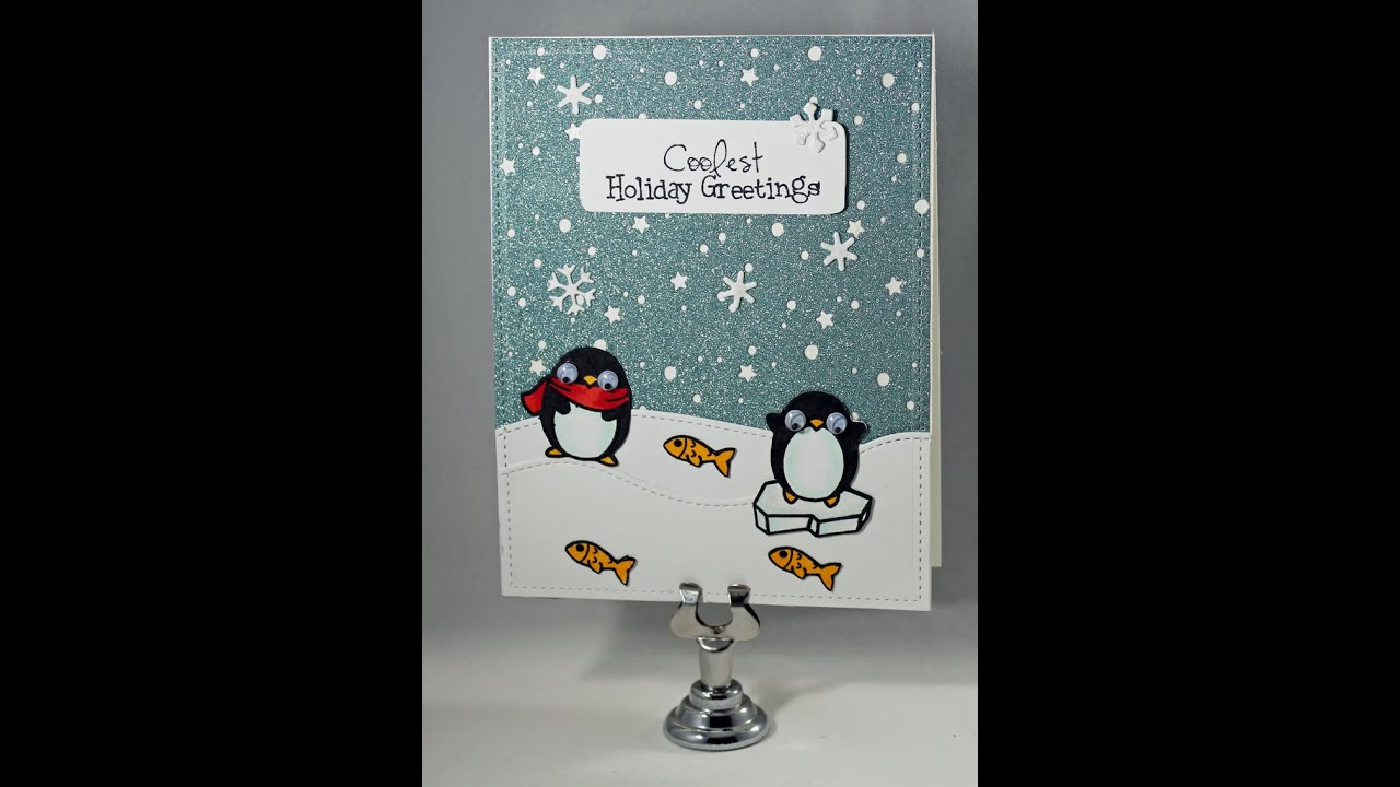 Coolest winter greeting card card making tutorial process video coolest winter greeting card card making tutorial process video m4hsunfo