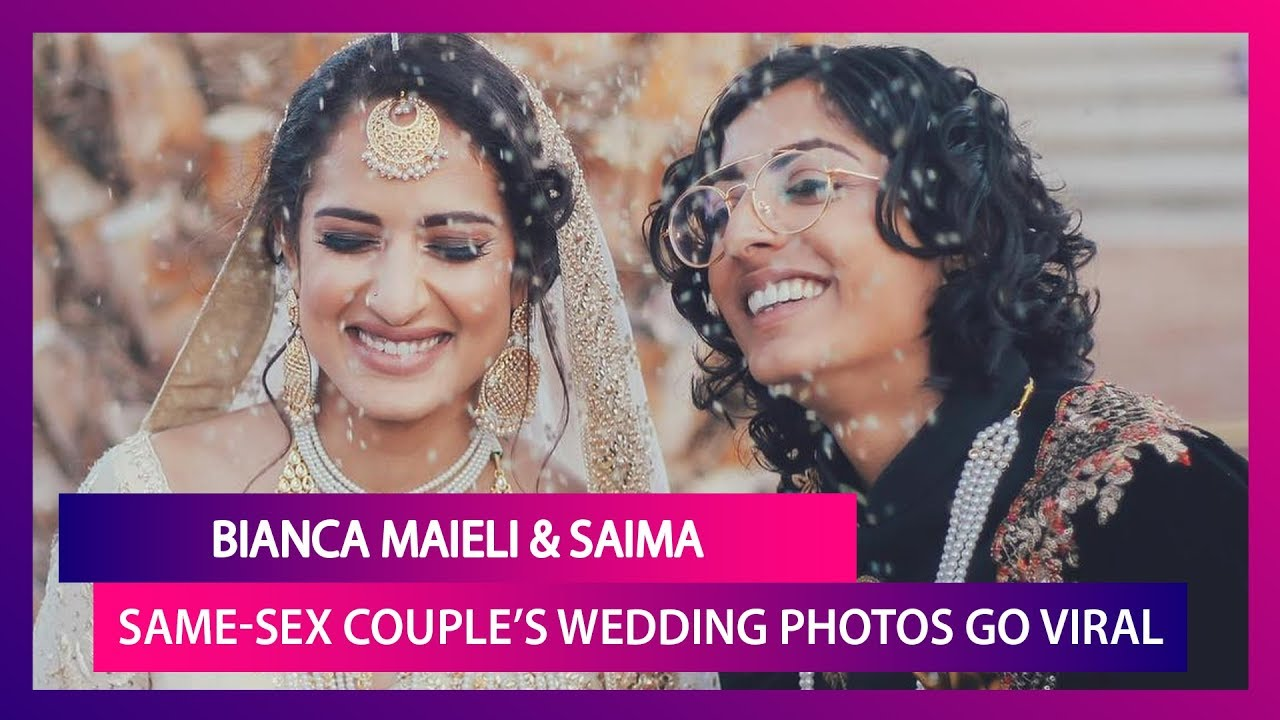 Bianca-Saima, A Lesbian Couple With Indian & Pakistan Roots Tie The Knot In U.S., Photos Go Vira