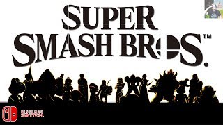 Super Smash Bros. for Switch - All Characters So Far! (Characters Silhouettes Detailed)