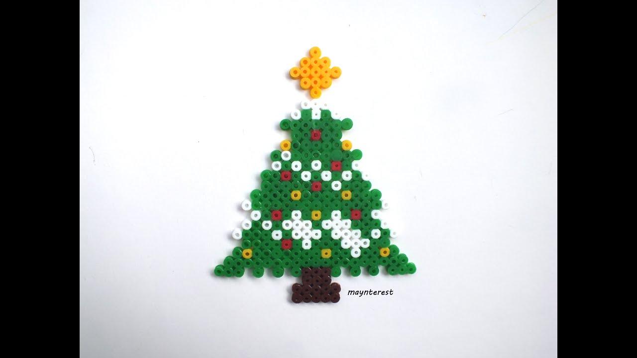 Manualidades navidad rbol o pino de navidad de hama - Adornos para arbol navidad ...