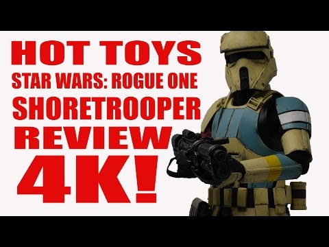 HOT TOYS STAR WARS ROGUE ONE 1/6 SCALE SHORETROOPER FIGURE REVIEW 4K!!