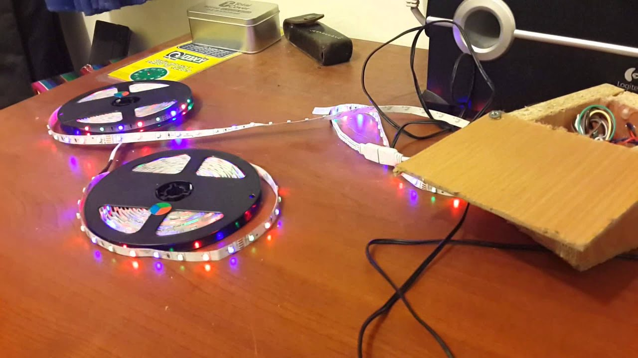 Arduino Programmed Rgb Led Strip And Filtered Microphone Ver1 Youtube Wiring
