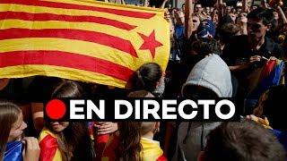 EN DIRECTO: Manifestación independentista en el centro de Barcelona