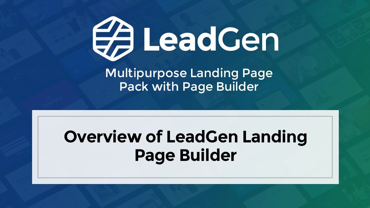 LeadGen - Multipurpose Marketing Landing Page Pack with Page