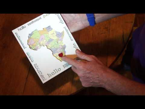 Wall Hanging Hello Africa Map in Eleven South African Official Languages