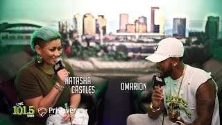 Omarion​ does GROCERIES with Natasha Castles​ at LIVE 101.5