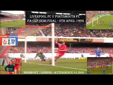 LIVERPOOL FC V PORTSMOUTH FC - FA CUP SEMI FINAL - 5TH APRIL 1992 - HIGHBURY