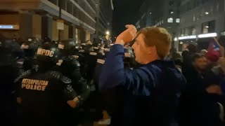 video: Watch: Nighttime clashes between pro-Donald Trump and BLM activists in Washington DC