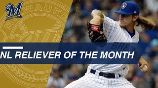 Josh hader is named the national league reliever of month for aprilabout major baseball: baseball (mlb) most historic professi...
