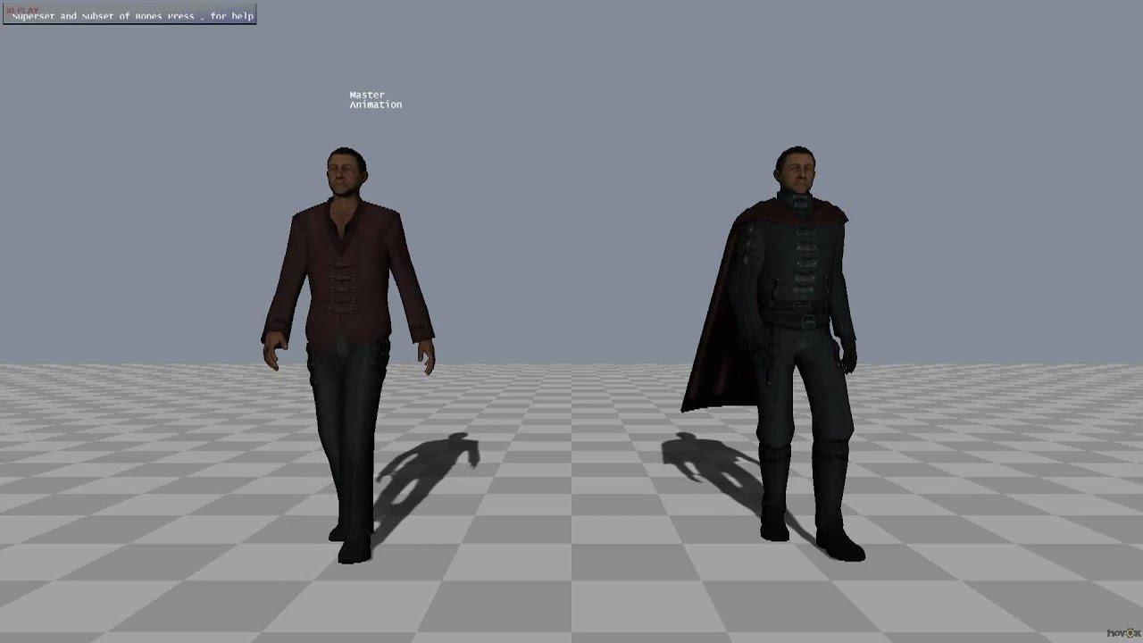 Animation Retargeting havok animation: animation retargeting between superset and subset  characters