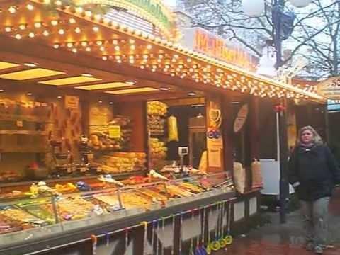 Offenbach Weihnachtsmarkt.Mandelwagen 2 Auf Dem Offenbacher Weihnachtsmarkt