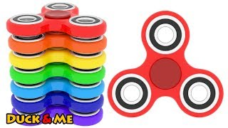 Learn Colors with 3D Colour Fidget Spinners for Kids #duckandme