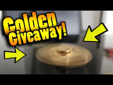 GOLDEN FIDGET SPINNER UNBOXING + GIVEAWAY!!