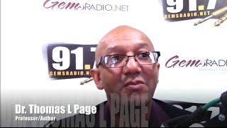 Gems Radio  Sunday Dinner Interview Dr. L Page