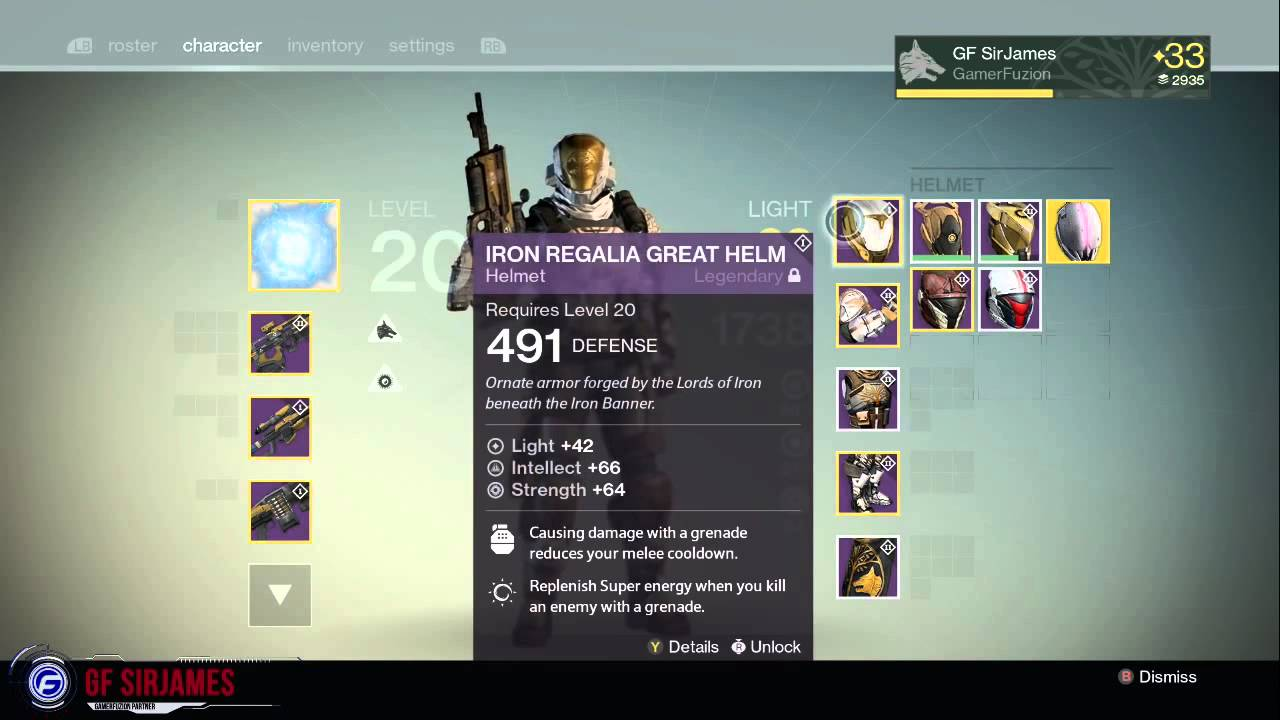 Destiny Iron Banner 2....