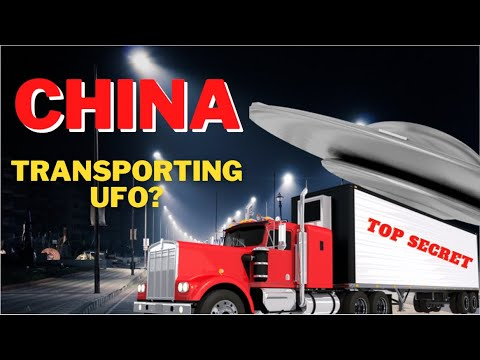 China Is Transporting A UFO! Strange Scene Caught On Camera. Is That China's Secret Weapon?