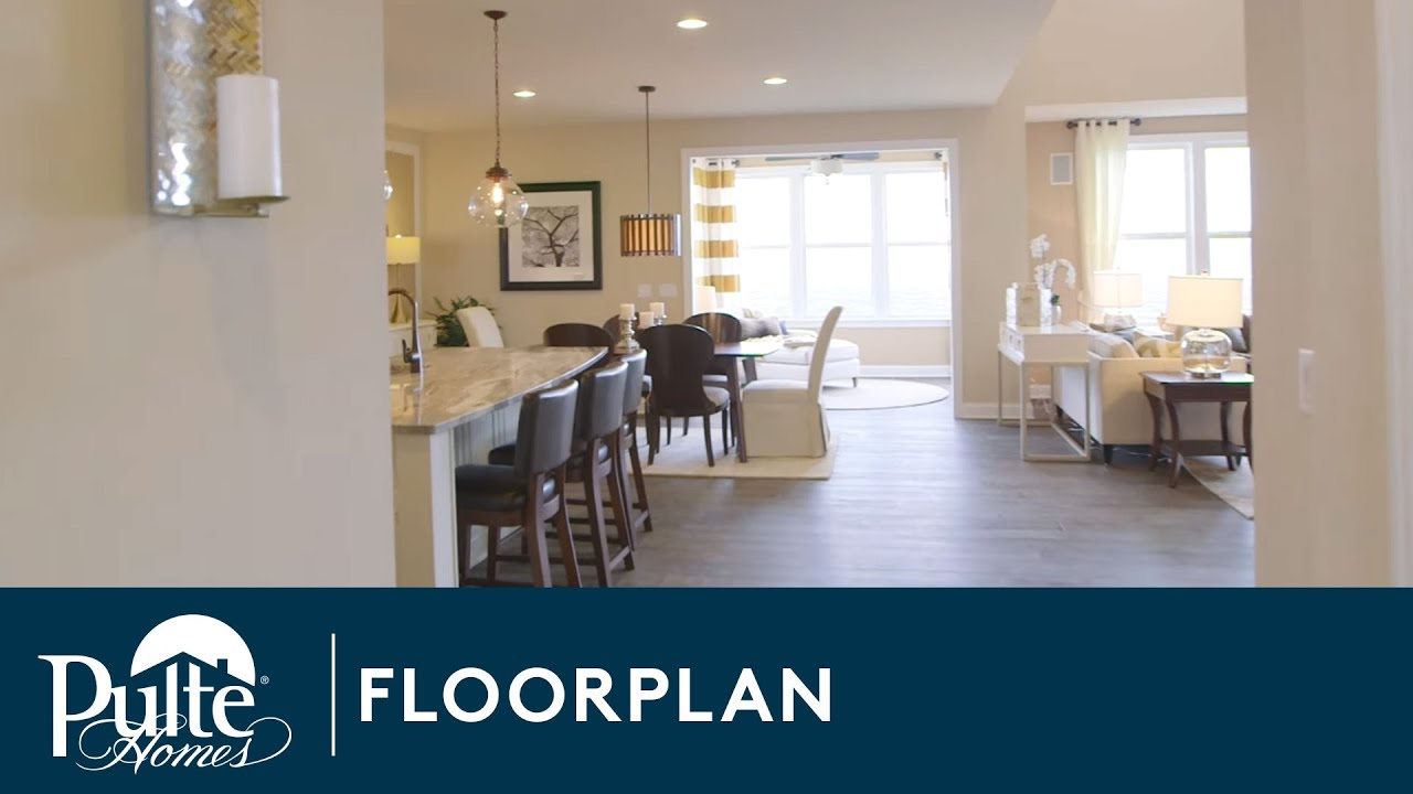 New homes by pulte homes melrose floorplan youtube for Home by home