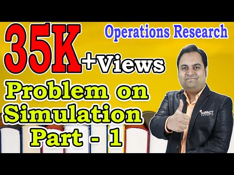 Problem on Simulation Part  1   Simulation   Operations Research  
