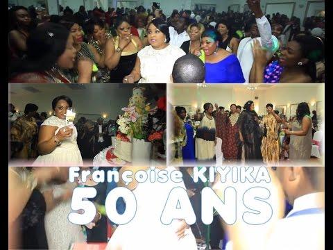 50 Ans de Françoise KIYIKA à Paris, Ba Maman CHATEAU ROUGE na MOZIKI Bayindisaki mabé NOLY TAMBU