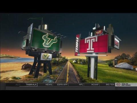 October 21, 2016 - South Florida Bulls vs. Temple Owls Full Football Game 60fps