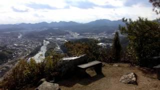 安芸国・新高山城詰の丸からの展望
