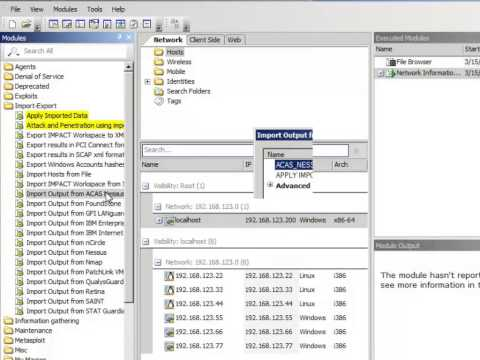 How To Import The Results Of An ACAS Scan