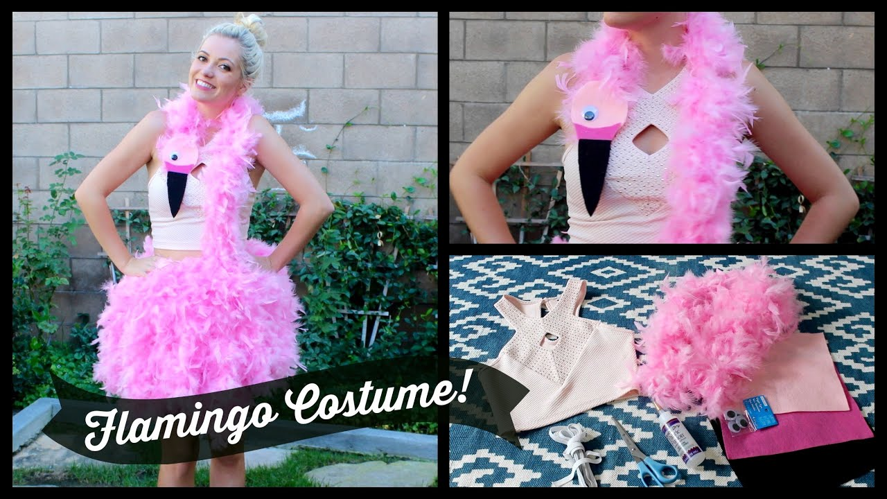 Diy Flamingo Costume Style By Dani Youtube