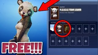 COME OTTENERE PANDA TEAM LEADER - GRATIS IN FORTNITE! FORTNITE NUOVO PANDA TEAM LEADER SKIN GRATIS!