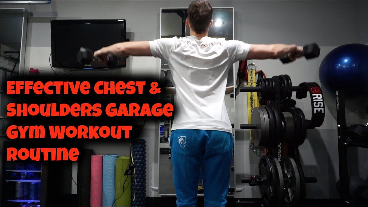 Effective chest shoulders garage gym workout routine bird