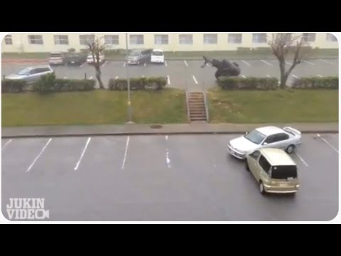 Epic Wind Storm WRECKS Car