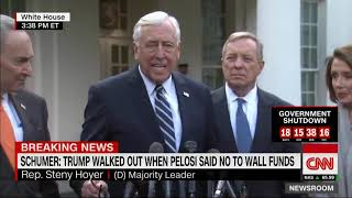 Trump Walked Out Of Meeting After Pelosi Said No To Border Wall