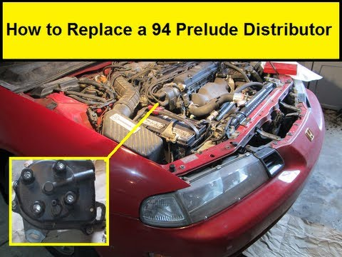 How To Replace a 94 Prelude Distributor (HowToLou.com) H A Wiring Diagram Distributor Cap on
