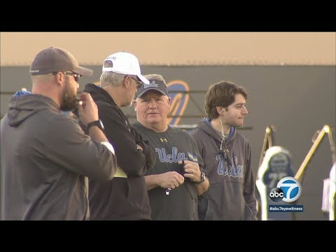 Chip Kelly holds first practice at UCLA | ABC7
