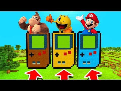 Minecraft PE : DO NOT CHOOSE THE WRONG GAMEBOY! (Donkey Kong, Pacman & Mario) thumbnail