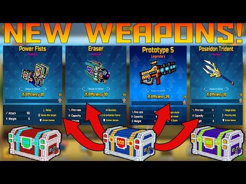 I GOT THE PROTOTYPE S, ERASER, AND OTHER WEAPONS! (BIG CLAN CHEST OPENING) Pixel Gun 3D