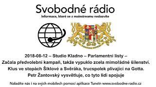 2018-08-12 – Studio Kladno – Parlamentní listy – Začala předvolební kampaň