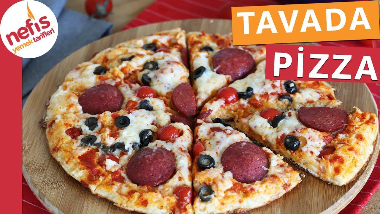 Tavada Kolay Pizza Tarifi – Cabuk Pizza Nasil Yapilir