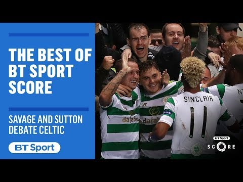 Robbie Savage and Chris Sutton in heated row over Celtic's true quality