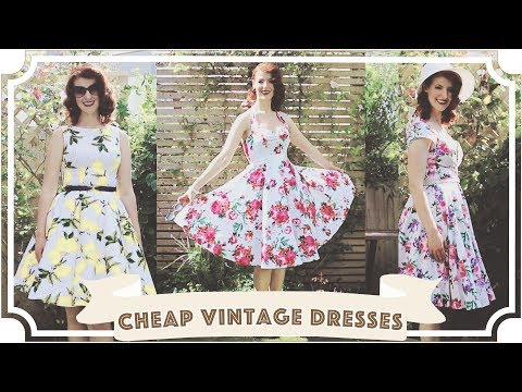 Cheap Vintage Dresses and Petticoats Review! // Grace Karin [CC] thumbnail