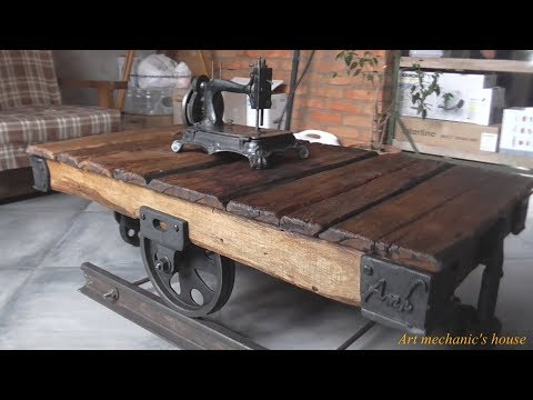 стол - тележка лофт / koffee table trolley (Loft, Industrial Style)