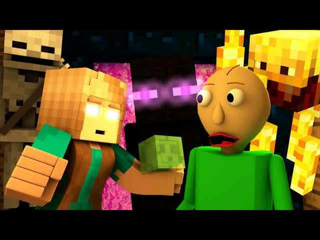 MONSTER SCHOOL VS BALDI'S BASICS CHALLENGE! (official) Minecraft Horror Game Animation Video