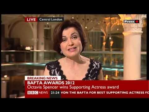 Jane Hill presents the BAFTAs 2012